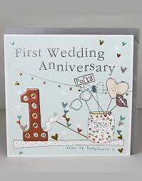 wedding anniversary cards molly mae cards 1st