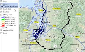 seattle map by county seattle tacoma bellevue wa msa situation outlook report