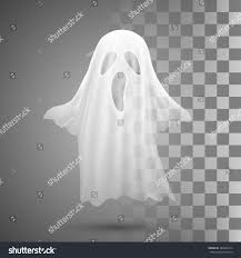 vector ghosts ghosts on transparent backgroundvector illustration eps stock