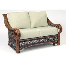 Wicker Loveseat Replacement Cushions Nantucket Wicker Loveseat Replacement Cushion Set Black
