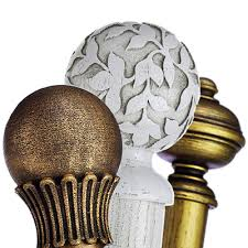 Chunky Wooden Curtain Poles Curtain Poles Poles Direct