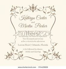 ornate classic wedding menu design vintage stock vector 608556374