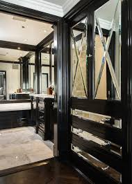 Espresso Closet Doors Mirrored Closet Cabinets Transitional Closet M Wright Design
