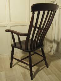 victorian beech and elm slat back carver chair antiques atlas