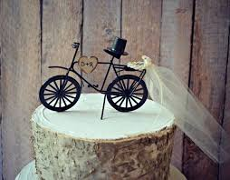 bicycle cake topper bicycle wedding cake topper sports grooms cake groom rustic