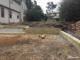 building a wood retaining wall lehman lane