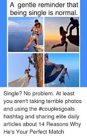 Funny Memes About Being Single - a gentle reminder that being single is normal single no problem