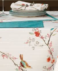 decorating white starlight lenox tablecloth with pure skin design