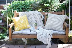 Porch Swing With Cushions How To Refresh A Porch Swing With Teak Oil Home Improvement
