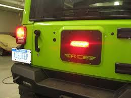 jeep wrangler third brake light gate plate with factory third brake light provision