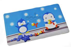 penguin fish bath mat abele ghdxt0071 bathmat pen 40 70 whi 15 1w