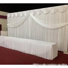 White Satin Curtains Shop White Silk Wedding Backdrop Curtains Simple Design