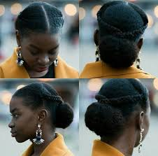 updo transitional natural hairstyles for the african american woman 2015 oyinhandmade loving this sleek updo w braids and a bun repost