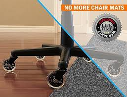 Hardwood Floor Chair Mat Office Chair Wheels Replacement Rubber Chair Casters For Hardwood