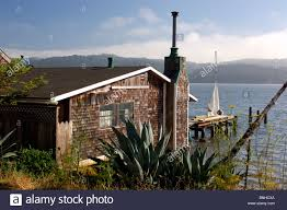 usa marshall california house at tomales bay near marshall wooden