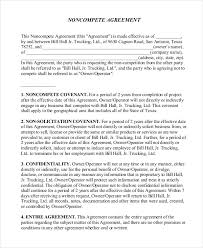 11 standard non compete agreement templates free sample