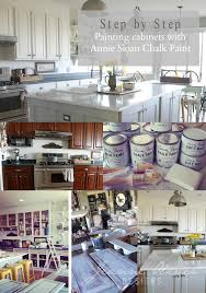 Step By Step Kitchen Cabinet Painting With Annie Sloan Chalk Paint - Painting kitchen cabinets chalkboard paint