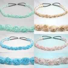 crochet hair bands chiffon headwrap elastic headband hair band accessory stretch