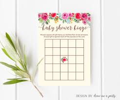 floral baby shower bingo flower bingo cards floral baby