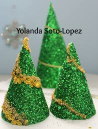 easy to make glitter tree decorations craft