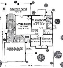 Mediterranean Style House Plan 3 Beds 2 00 Baths 1488 Sq Ft Plan 16 X 50 Floor Plans