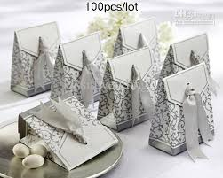 silver party favors silver ribbon favor boxes for wedding cake boxes candy box bridal