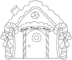 christmas gingerbread house and two sweet candy cane coloring page