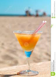 martini beach apple daiquiri cocktail on the sunny beach stock photo image