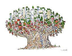 tree city drawing the hiking artist project by frits ahlefeldt