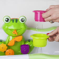 amazon com zig zag kid toddler bath tub toy green frog with 4