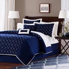 Navy Blue Bedding Set Lillie Microfiber Comforter Set Navy Walmart