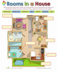 rooms in the house rooms in a house worksheet education com