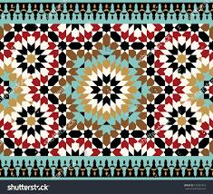 Morocco Design by Morocco Seamless Border Traditional Islamic Design Stock Vector