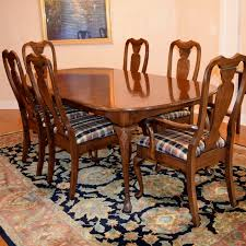 dining room table six chairs harden furniture co queen anne style dining room table with six