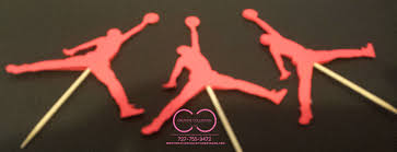 air cake topper jumpman cupcake toppers sold in sets creative collection by shon