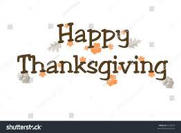 illustration words happy thanksgiving on white stock illustration