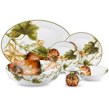 botanical pumpkin dinnerware collection williams sonoma