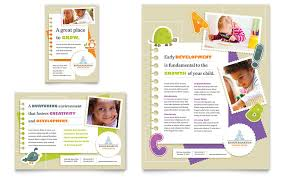 daycare brochure template kindergarten flyer ad template word publisher