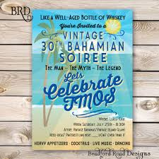 vintage beach invitation 30th 40th 50th 60th birthday