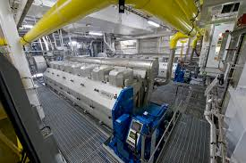 cruise ship engine room similar to the one hosting an epic gun
