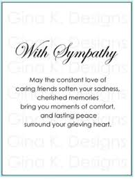condolences greeting card catalog sympathy verses rubber sts sentiments