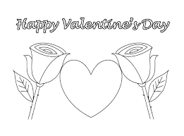 happy valentines day coloring pages getcoloringpages com