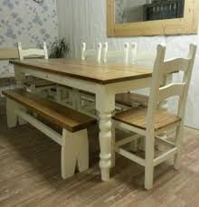 Rustic Farmhouse Dining Table With Bench Dining Room Sets With Bench Dining Table Storage Bench Coastal