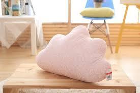 cute cloud shape pillow sofa back cushion office nap bolster kids