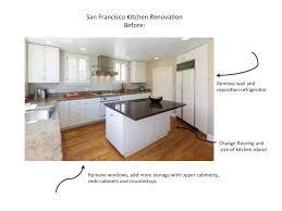 adding an island to an existing kitchen san francisco kitchen remodel before and after interior design