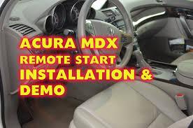 acura mdx remote start alarm installation with idatalink and dei