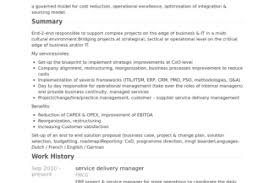 Service Delivery Manager Resume Sample by Itsm Process Manager Resume Reentrycorps