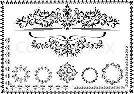 decorative ornament border frame graphic stock vector colourbox