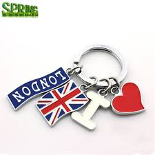 fashion key rings images Fashion england style dice key chain great british travel key ring jpg