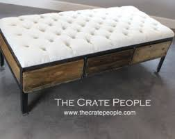 Ottoman Coffee Table Coffee Table Ottoman Etsy
